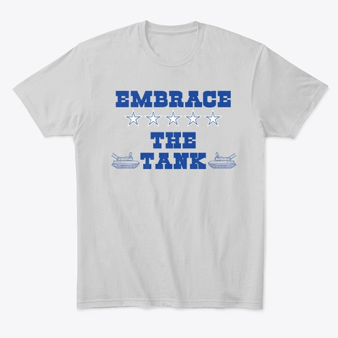 Embrace The Tank 90 Light Heather Grey  T-Shirt Front