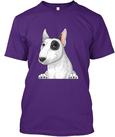 Bull Terrier 001 Purple T-Shirt Front