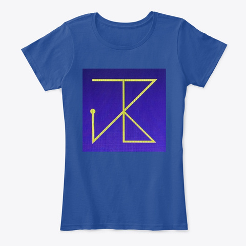 Just Business Deep Royal  T-Shirt Front