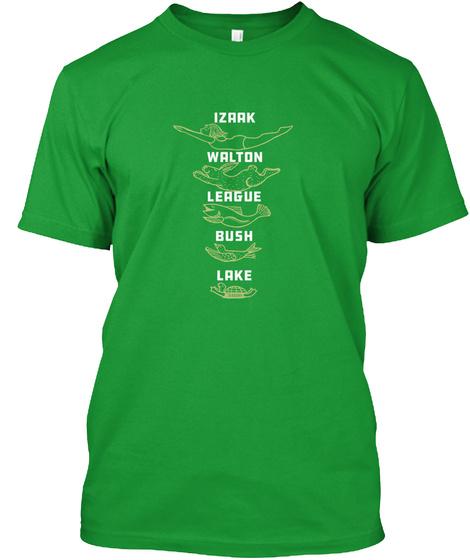 Izaak Walton League Bush Lake Kelly Green T-Shirt Front