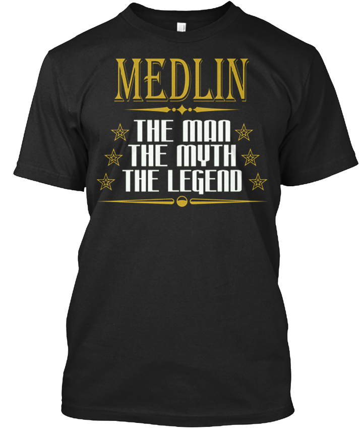 Medlin-The-Man-Legend-Name-S-T-shirt-Elegant-S-5XL