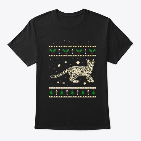 Christmas Egyptian Mau Gift Black T-Shirt Front