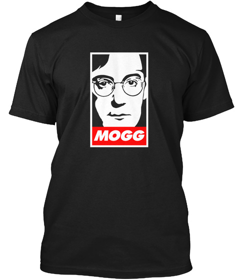 Mogg Japanese Obey Black T-Shirt Front
