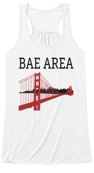 Bae Area White Tank Top Nữ Front
