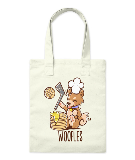 Woofles Natural T-Shirt Front