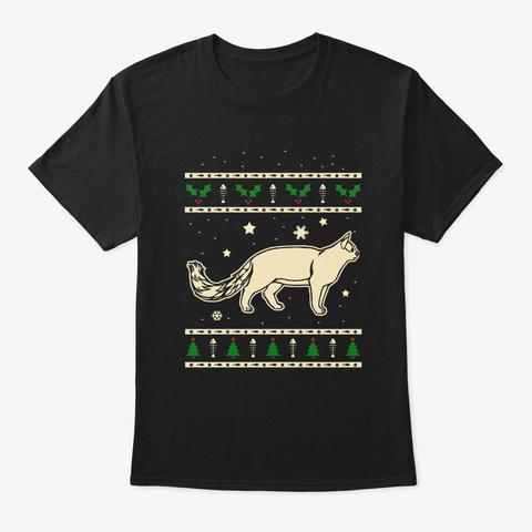 Christmas Turkish Van Gift Black T-Shirt Front