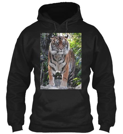 Sumatran Tiger Black T-Shirt Front