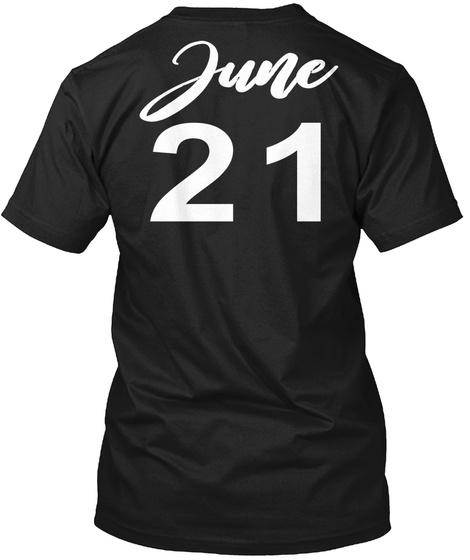 June 21   Cancer Black T-Shirt Back