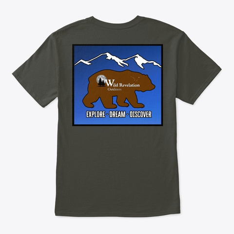 Kodiak Bear Unisex Tee Smoke Gray Maglietta Back