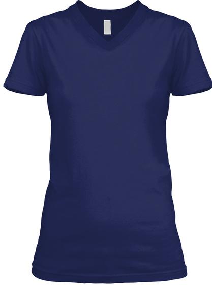 Italian Girl V Neck Navy T-Shirt Front