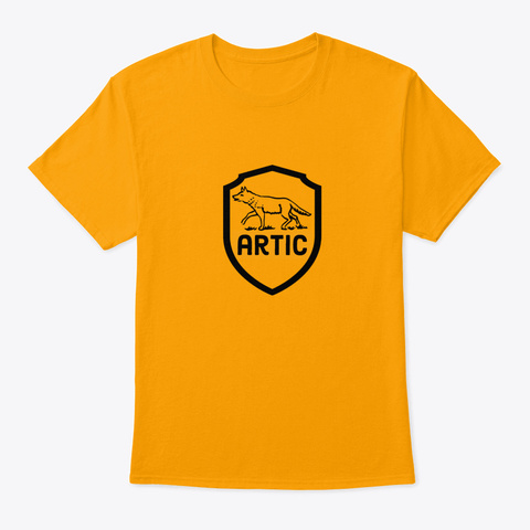 Artic Wolf Gold T-Shirt Front