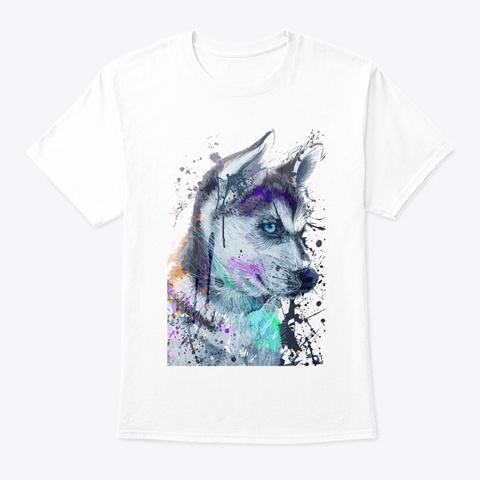 Siberian Husky Lovers T92 White T-Shirt Front