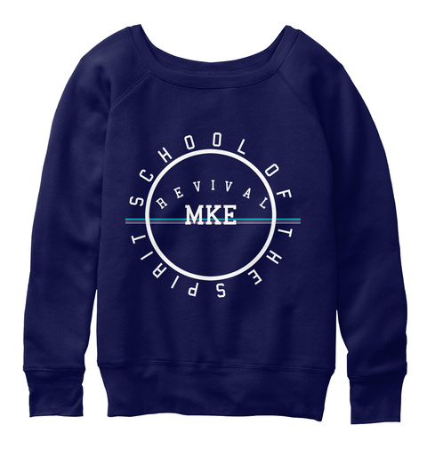 Revival Mke Slouchy Sweatshirt Navy  T-Shirt Front