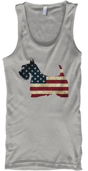 Proud American Scottie Athletic Heather Tank Top Front