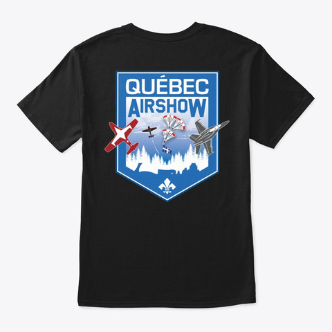 Québec Airshow Black T-Shirt Back