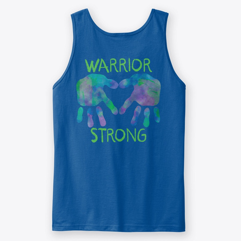 Warrior Strong Royal T-Shirt Back