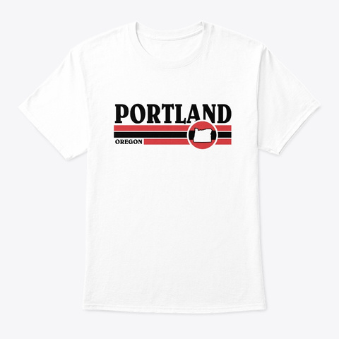 Portland Retro Bars White T-Shirt Front