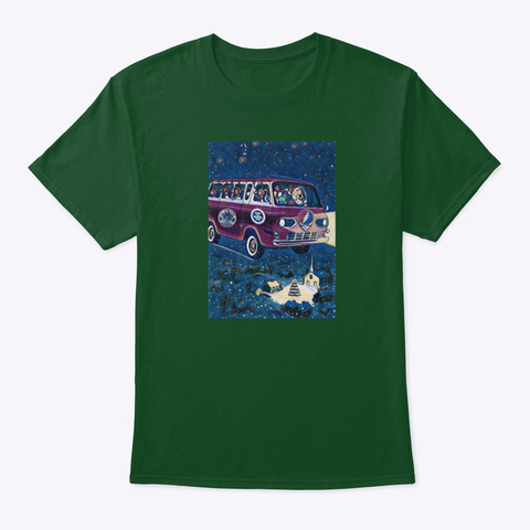 Truckin With Santa Jerry Deep Forest T-Shirt Front