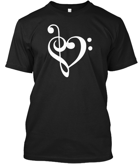 Love For Music T Shirt Black Maglietta Front