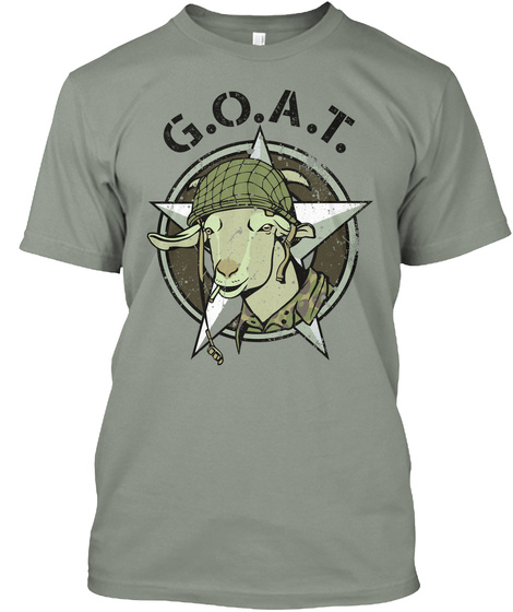 G.O.A.T Grey T-Shirt Front
