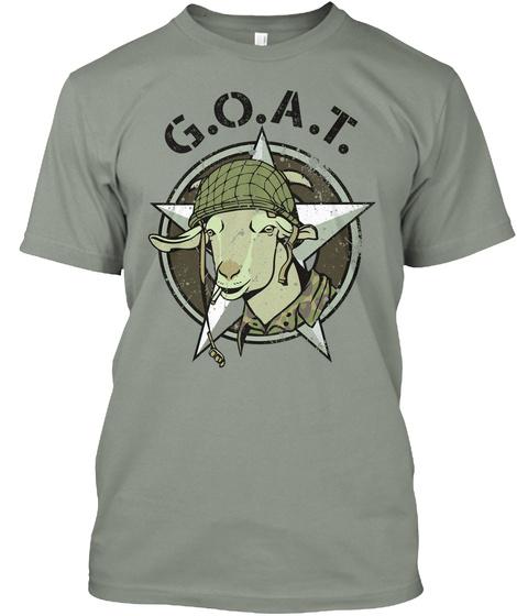 G.O.A.T Grey T-Shirt Front