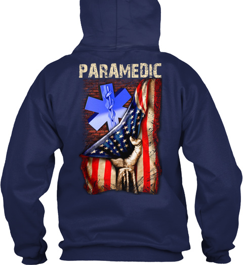 Proud Paramedic Navy T-Shirt Back