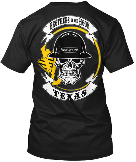 Brothers Of The Hook Texas Black T-Shirt Back