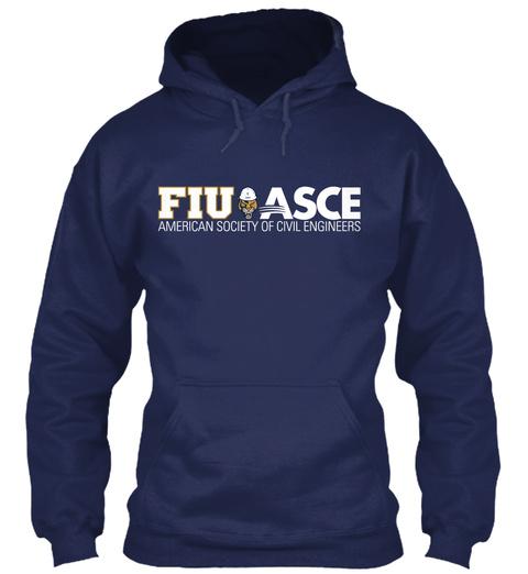 Fiu Asce American Society Of Civil Engineers Navy Sweatshirt Front