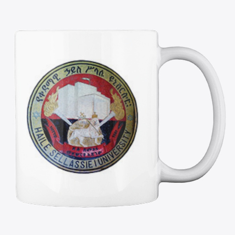 Haile Selassie I University Classic Mug White T-Shirt Back