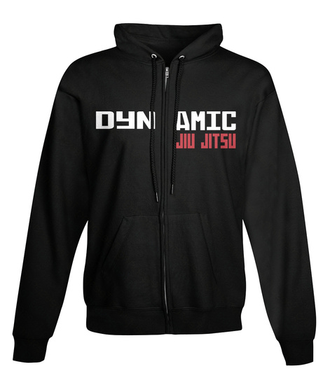 Dynamic Jiu Jitsu Black T-Shirt Front
