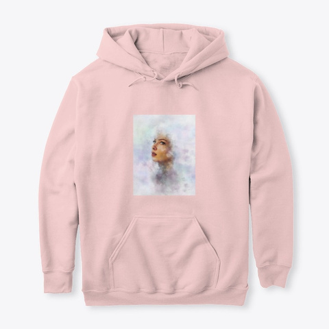 """""""Aura"""" Hoodie Light Pink T-Shirt Front"""