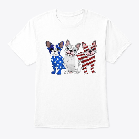 French Bulldog Beauty White T-Shirt Front