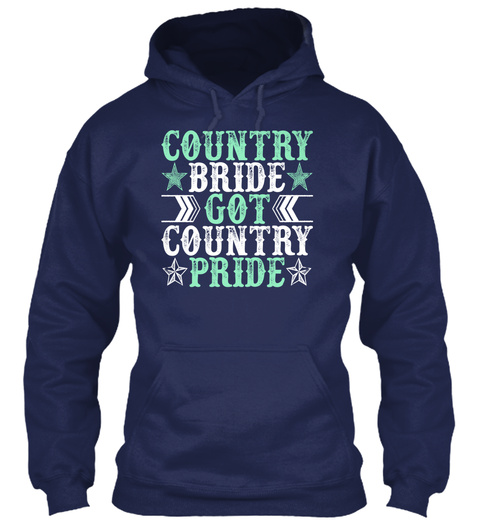 Country Bride Got Country Pride Navy Suéter Front