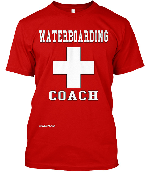 Waterboarding Coach Classic Red T-Shirt Front