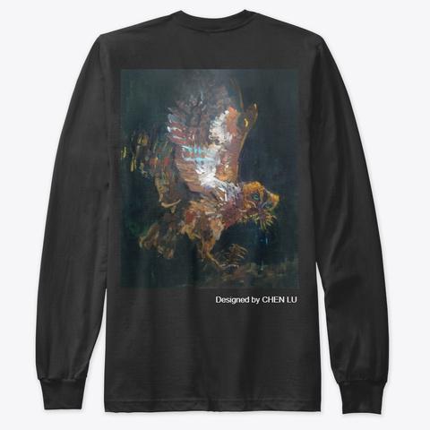 Owl Black T-Shirt Back