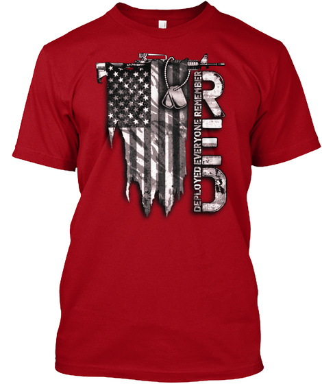 R.E.D Distressed Flag T-Shirt Front