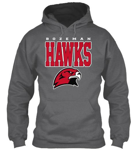 Hawks Dark Heather T-Shirt Front