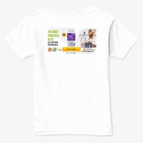 Ultra Keto X Burn Price White  T-Shirt Back