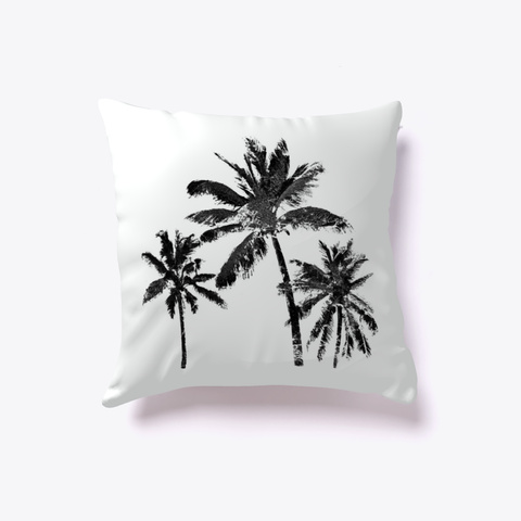 Palm Trees Contemporary Standard T-Shirt Back