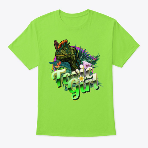 Toxic Girl Lime T-Shirt Front