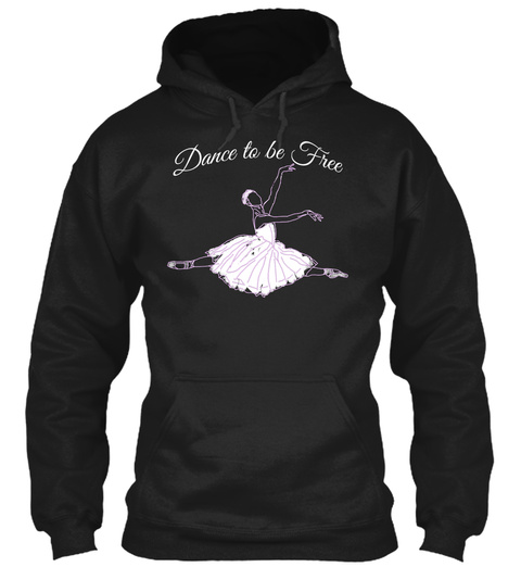 Dance To Be Free Black T-Shirt Front