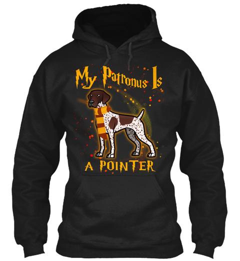 My Patronus Pointer Black T-Shirt Front