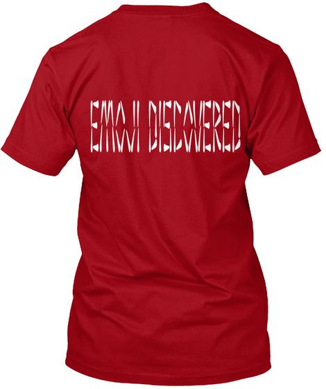 Emoji Discovered Deep Red T-Shirt Back