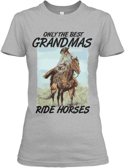 The Western Grandma Sport Grey T-Shirt Front