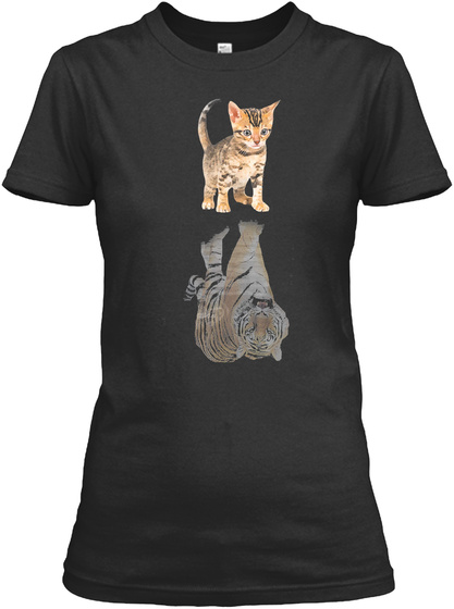 Bengal Cat Shadow Bengal Tiger Shirt Tsh Black T-Shirt Front