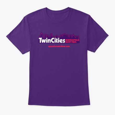 Twin Cities Purple T-Shirt Front