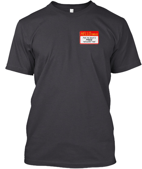 Hello Charcoal Black T-Shirt Front