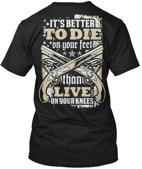 On Your Knees Black T-Shirt Back