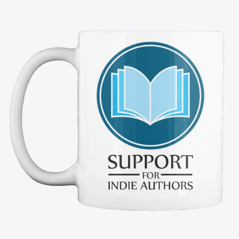 Support Indie Authors Logo Mug White T-Shirt Front
