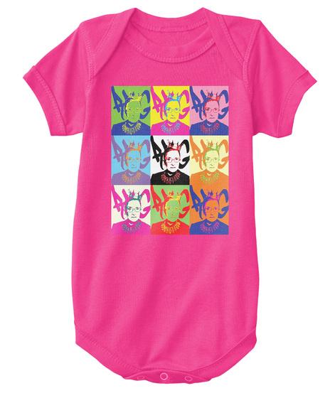 Notorious Rbg   Diva   Onesie Hot Pink T-Shirt Front